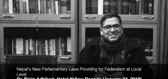 Nepal's New Parliamentary Laws Providing for the Federalism at the Local Level